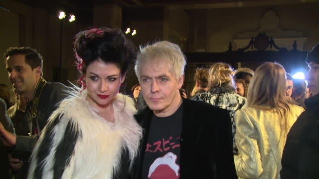 nick rhodes nefer suvio at freemasons hall on february 16 2018 in london england - nick rhodes stock videos & royalty-free footage