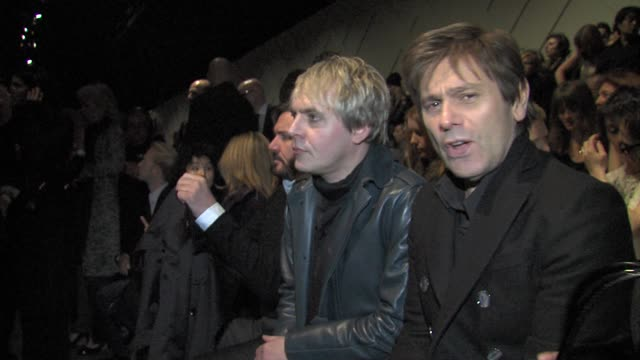 nick rhodes roger taylor at the london fashion week celebrity sightings at london england - nick rhodes stock videos & royalty-free footage