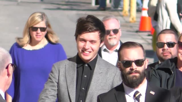 Nick Robinson arrives for his guest appearance on Jimmy Kimmel Live at El Capitan Theater in Hollywood in Celebrity Sightings in Los Angeles