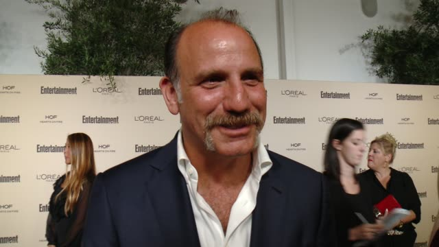 interview nick sandow on favorite television moments from this past season and on what entertainment weekly means to them at entertainment weekly's... - entertainment weekly stock videos and b-roll footage
