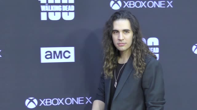 Nick Simmons at AMC's The Walking Dead 100th Episode Season 8 Special Premiere Screening at The Greek Theatre on October 22 2017 in Los Angeles...