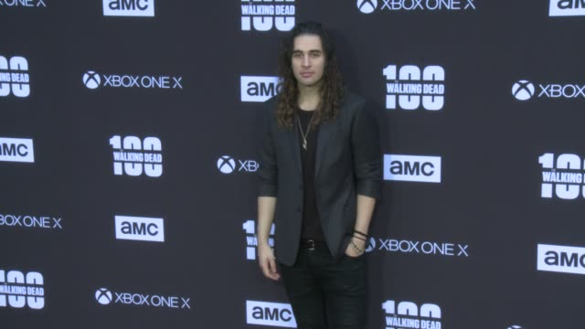 Nick Simmons at the AMC's The Walking Dead 100th Episode Season 8 Special Premiere Screening at The Greek Theatre on October 22 2017 in Los Angeles...