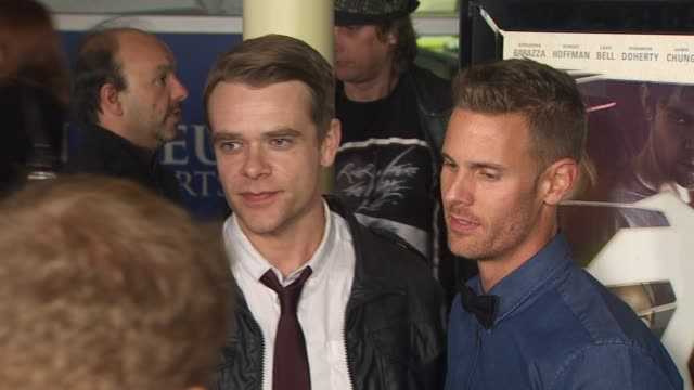 nick stahl and christopher b landon at the 'burning palms' premiere at hollywood ca - stahl stock videos & royalty-free footage