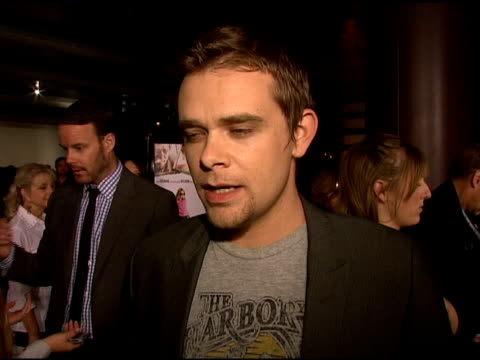 nick stahl on charlize theron as a producer his role in the film and the theme of the movie at the 'sleepwalking' screening at directors guild of... - stahl stock videos & royalty-free footage