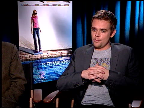 nick stahl on his character in the film at the 'sleepwalking' press junket at null in los angeles california on march 6 2008 - stahl stock videos & royalty-free footage