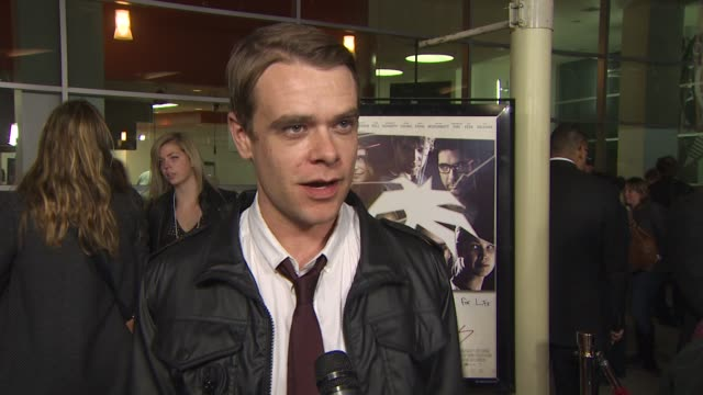 nick stahl on what attracted him to this project at the 'burning palms' premiere at hollywood ca - stahl stock videos & royalty-free footage