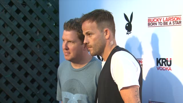 nick swardson and stephen dorff at the camp playboy party at comiccon presented by sony entertainment and kru vodka at san diego ca - stephen dorff stock videos & royalty-free footage