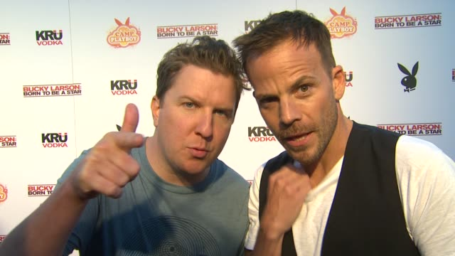 nick swardson and stephen dorff on what's the best/craziest thing they have seen at comic con - stephen dorff stock videos & royalty-free footage