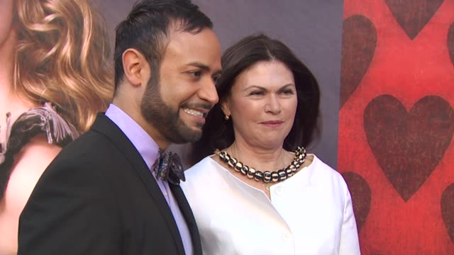 nick verreos and colleen atwood at the opening night of fidm exhibit for walt disney studios 'alice in wonderland' at los angeles ca - alice in wonderland stock videos and b-roll footage