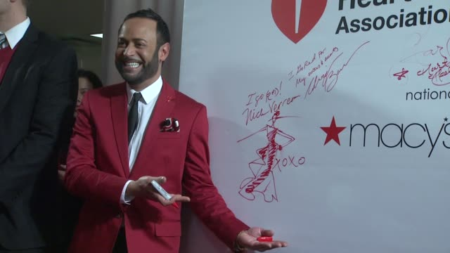 nick verreos at aha's go red for women national wear red day at macy's at macy's herald square on 02/03/12 in new york - macy's herald square stock videos and b-roll footage