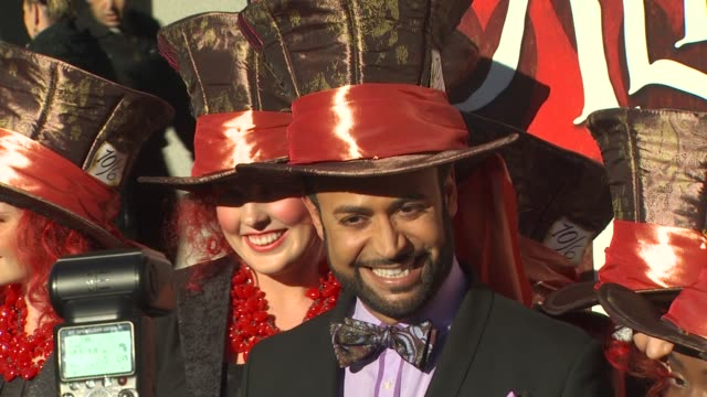 nick verreos at the opening night of fidm exhibit for walt disney studios 'alice in wonderland' at los angeles ca - alice in wonderland stock videos and b-roll footage