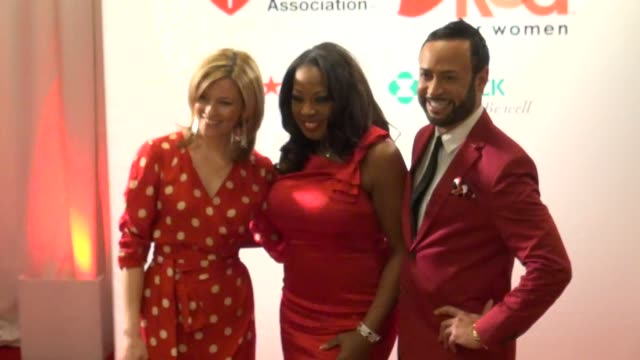 Nick Verreos Elizabeth Banks and Star Jones at the American Heart Association's 'Go Red for Women' Luncheon in New York on 2/3/2012