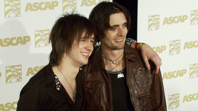 nick wheeler and tyson ritter of all-american rejects at the ascap pop music awards at the kodak theatre in hollywood, california on april 18, 2007. - the all american rejects stock videos & royalty-free footage