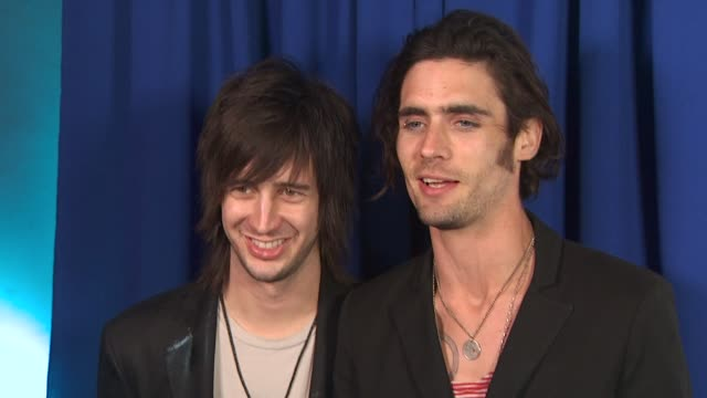 nick wheeler , tyson ritter at the 'american idol' top 24 semi-finalists event at west hollywood ca. - 準決勝点の映像素材/bロール