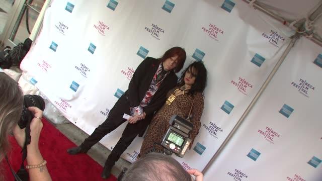 Nick Zedd and Monica Casanova at the 8th Annual Tribeca Film Festival 'Blank City' Premiere at New York NY