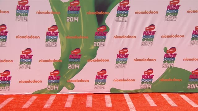 signage nickelodeon kids' choice sports awards 2014 at pauley pavilion on july 17 2014 in los angeles california - nickelodeon stock videos & royalty-free footage