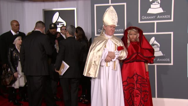 nicki minaj at 54th annual grammy awards arrivals on 2/12/12 in los angeles ca - grammys stock videos & royalty-free footage