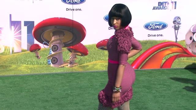 nicki minaj at the 2011 bet awards at los angeles ca - black entertainment television stock videos & royalty-free footage