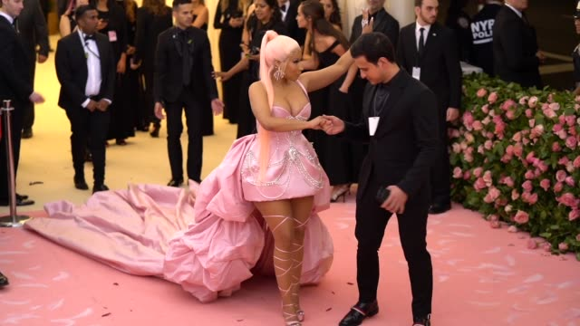 Nicki Minaj at The 2019 Met Gala Celebrating Camp Notes on Fashion Arrivals at Metropolitan Museum of Art on May 06 2019 in New York City