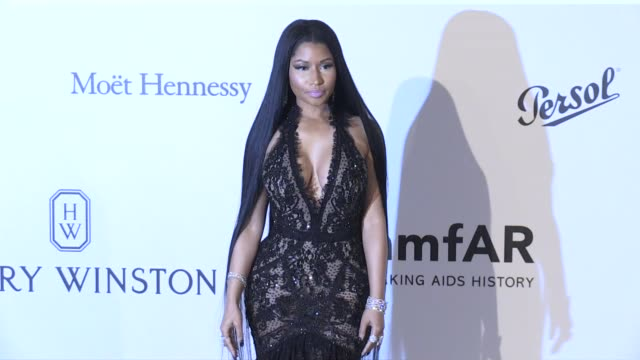 Nicki Minaj on the red carpet at the amfAR Gala during the Cannes Film Festival 2017 Thursday 25 May 2017 Cannes France