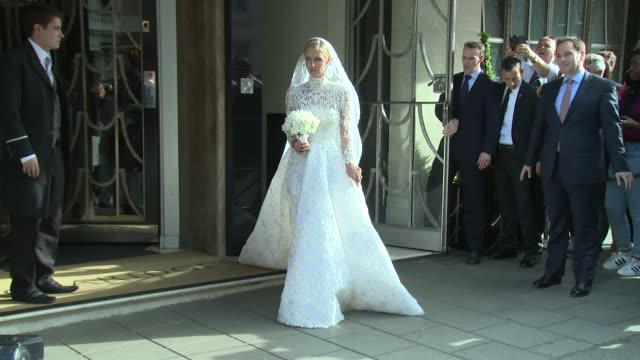 nicky hilton & paris hilton at celebrity sightings - nicky hilton and james rothschild wedding on 10th july 2015 in london, england. - celebrities video stock e b–roll