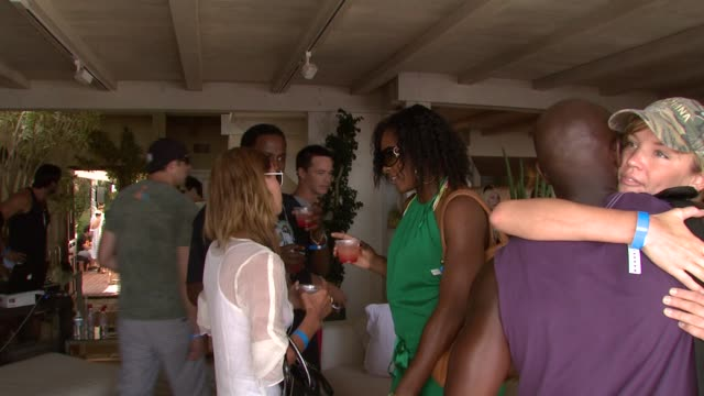 Nicky Hilton Serena Williams Taye Diggs and Ashley Scott at the Boost Mobile BBQ at Polaroid Beach House in Malibu California on July 21 2007