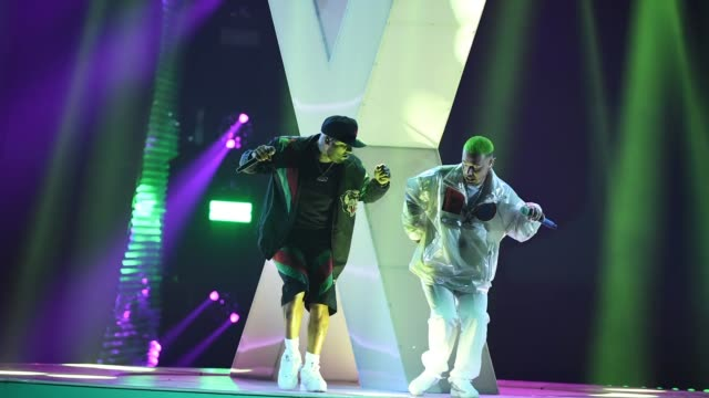 nicky jam and j balvin perform onstage during the 19th annual latin grammy awards at mgm grand garden arena on november 15, 2018 in las vegas, nevada. - latin grammy awards stock videos & royalty-free footage