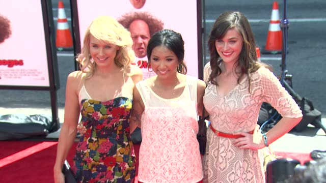 nicky whelan brenda song christine woods at the three stooges los angeles premiere on 4/7/12 in hollywood ca - brenda song stock videos & royalty-free footage