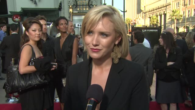 nicky whelan on being directed by rob zombie being a fan of rob and what her experience on set was like at the 'halloween ii' premiere at hollywood ca - rob zombie stock videos & royalty-free footage