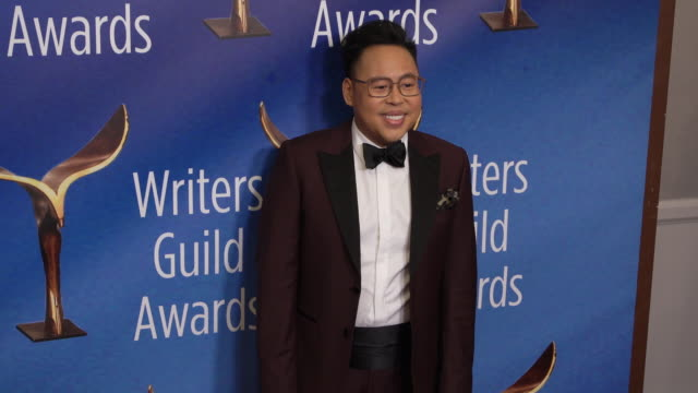 nico santos at the 2020 writers guild awards at the beverly hilton hotel on february 01, 2020 in beverly hills, california. - the beverly hilton hotel stock videos & royalty-free footage