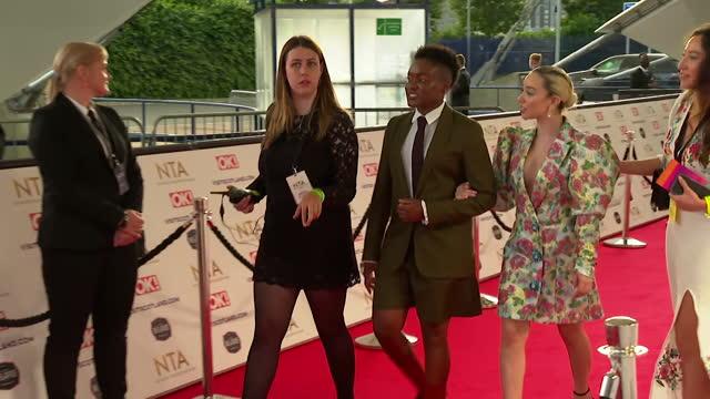 "nicola adams, boxer, and girlfriend ella baig, on red carpet at nta awards 2021 - ""bbc news"" stock videos & royalty-free footage"