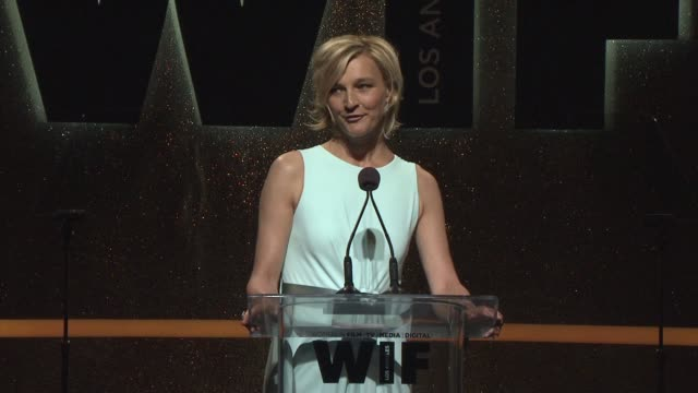 stockvideo's en b-roll-footage met speech nicola maramotti at 2014 women in film crystal lucy awards presented by max mara bmw perrierjouet and south coast plaza at the hyatt regency... - century plaza
