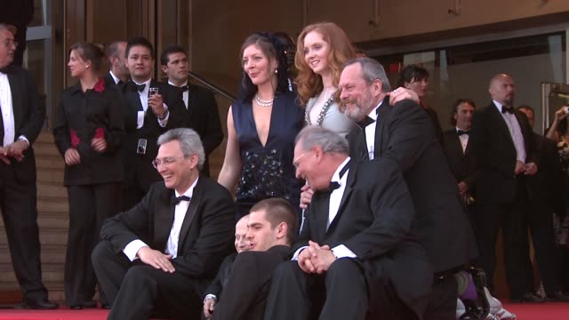 nicola percorini, model lily cole, director terry gilliam, actor andrew garfield, actor verne troyer at the cannes film festival 2009: the... - terry gilliam stock-videos und b-roll-filmmaterial
