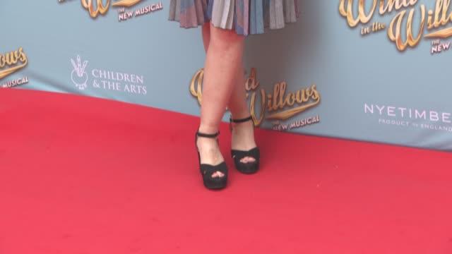 stockvideo's en b-roll-footage met nicola stephenson at the wind in the willows press night / vip gala at london palladium on june 29 2017 in london england - london palladium