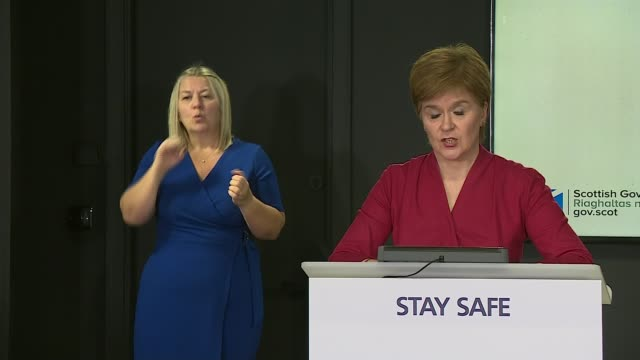 nicola sturgeon apologises to thousands of students in scotland for exam grade algorithm scotland edinburgh int nicola sturgeon msp statement sot... - {{ collectponotification.cta }} stock videos & royalty-free footage