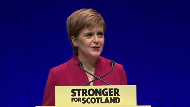 nicola sturgeon asking what gives westminster any right to deny people in scotland the ability to choose our own future - choice stock videos & royalty-free footage