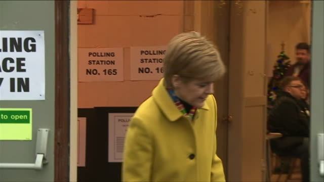 nicola sturgeon casting her vote in the general election - cast member stock videos & royalty-free footage