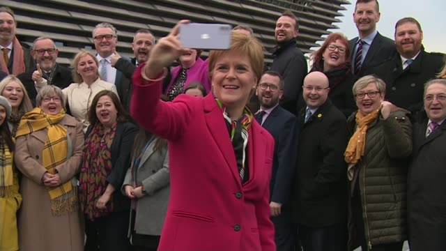 nicola sturgeon criticises the conservatives for opposing second scottish independence referendum; scotland: dundee: victoria & albert museum: ext... - member of the scottish parliament stock videos & royalty-free footage