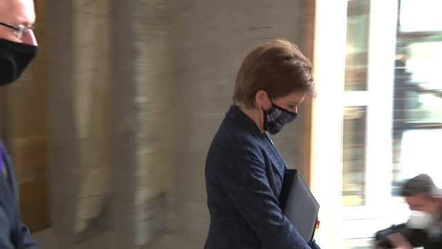 nicola sturgeon, first minister of scotland, walking into parliament, the day after she gave evidence into inquiry looking into the mishandling of... - problems stock videos & royalty-free footage