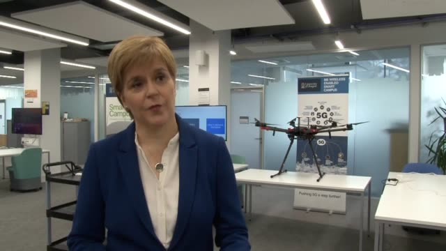 nicola sturgeon has said she hopes scotland will become a leading country in embracing 5g technology the first minister spoke in glasgow on monday as... - launch event stock videos & royalty-free footage