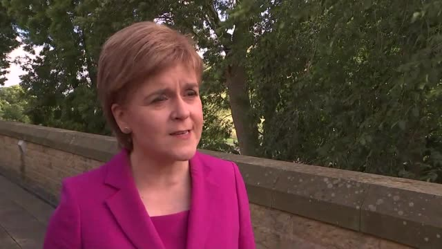 Edinburgh EXT Nicola Sturgeon MSP interview SOT the UK is a multinational state and those nations who voted to stay need to be heard keeping all...