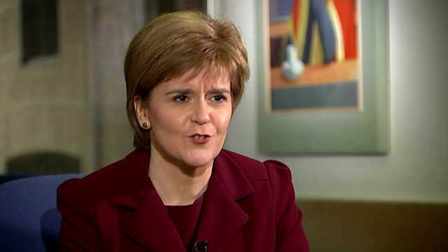 nicola sturgeon itv news interview; england: london: int nicola sturgeon msp interview sot - i recognise we had one and people voted to stay in the... - itv news at one stock videos & royalty-free footage