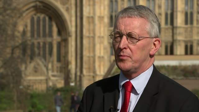 nicola sturgeon outlines plans to trigger second scottish independence referendum ext hilary benn mp interview sot i'll be voting in favour of... - hilary benn stock-videos und b-roll-filmmaterial