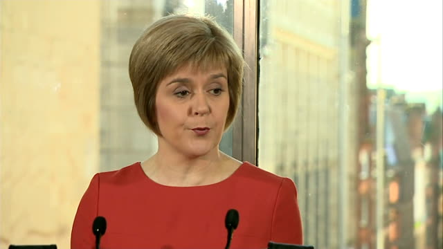 nicola sturgeon press conference on future of snp scotland glasgow photography *** nicola sturgeon msp press conference sot announces candidacy for... - scottish national party stock videos & royalty-free footage