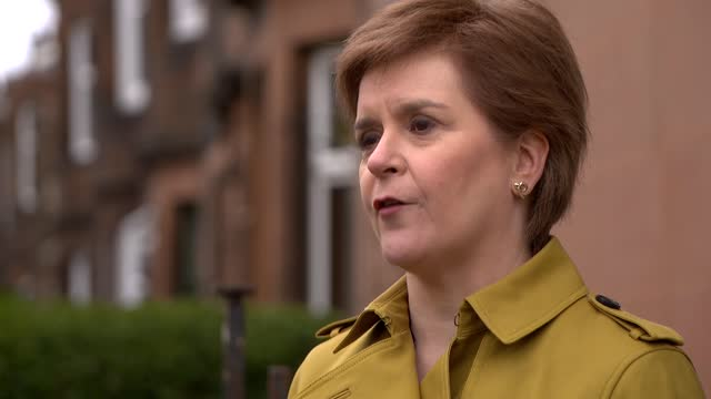 nicola sturgeon rules out working with alex salmond and commits to covid inquiry; part 2 of 2 scotland: ext nicola sturgeon msp interview sot q: if... - pursuit concept stock videos & royalty-free footage