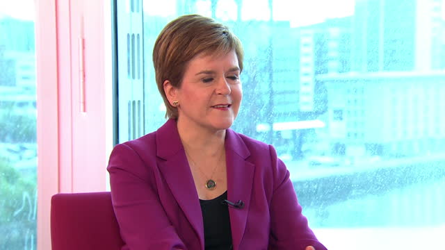 nicola sturgeon saying any government which respected scottish democracy would agree to a second independence referendum - politics concept stock videos & royalty-free footage