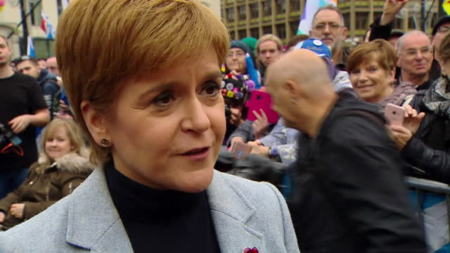 nicola sturgeon saying does scotland want our future determined by the likes of boris johnson or do we want to take it into our own hands - choice stock videos & royalty-free footage