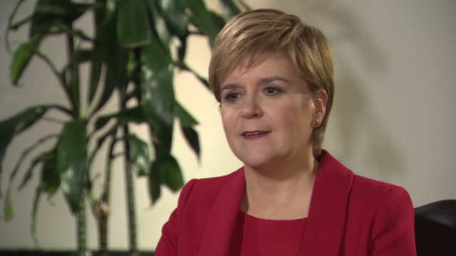 nicola sturgeon saying her position is that scotland should have it's own voice over its future at the end of the brexit process - scottish national party stock videos & royalty-free footage