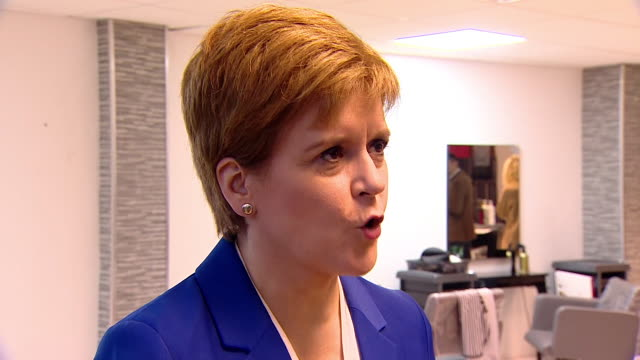 nicola sturgeon saying jeremy corbyn's stance of remaining neutral in a second eu referendum feeds the suspicion that he wants brexit but won't say it - mystery stock videos & royalty-free footage
