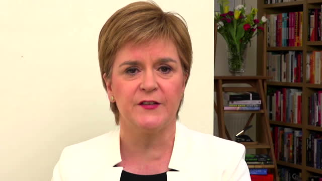 nicola sturgeon saying scotland being able to trade freely with the eu is vital - vitality stock videos & royalty-free footage